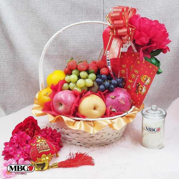 CNY Fortune Basket Fruit Basket (9 Types of Fruits)-CNY Special-MBG Fruit Shop