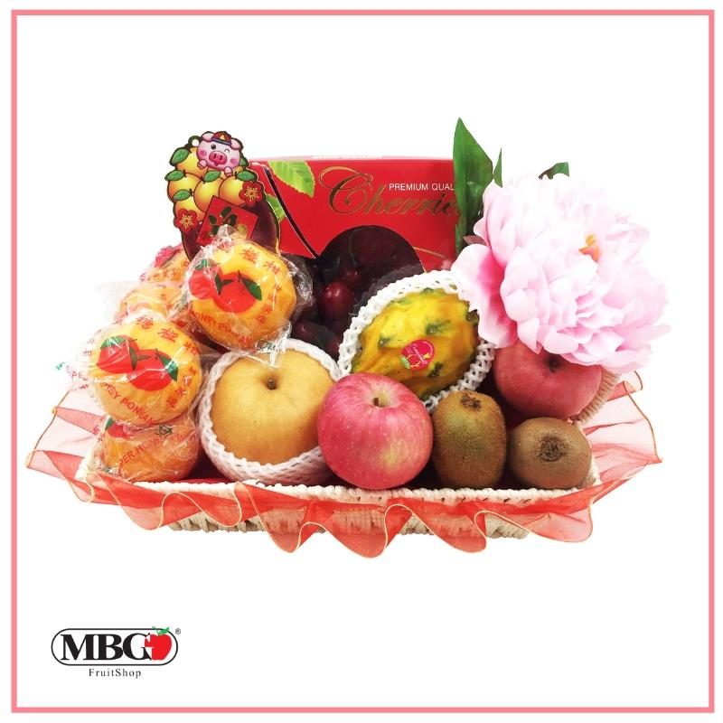 CNY Joyful Fruit Basket (6 Types of Fruits)-CNY Basket-MBG Fruit Shop