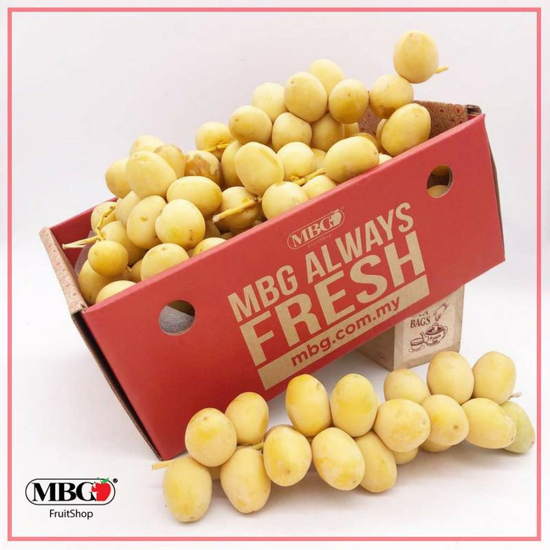 Egypt Yellow Fresh Dates Barhi (1KG/Pack)-Stone Fruits-MBG Fruit Shop