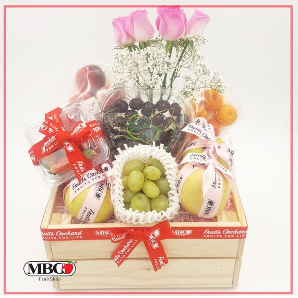 FruitsOrchard - Flower Fruit Crate FB2 (6 Types of Fruits)-Fruits Orchard-MBG Fruit Shop