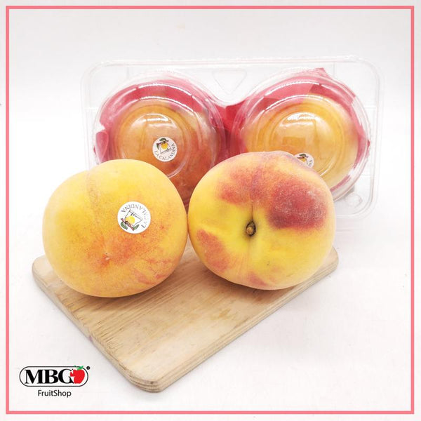 Spain La Calandina Yellow Peach (2Pcs/Pack)-Stone Fruits-MBG Fruit Shop