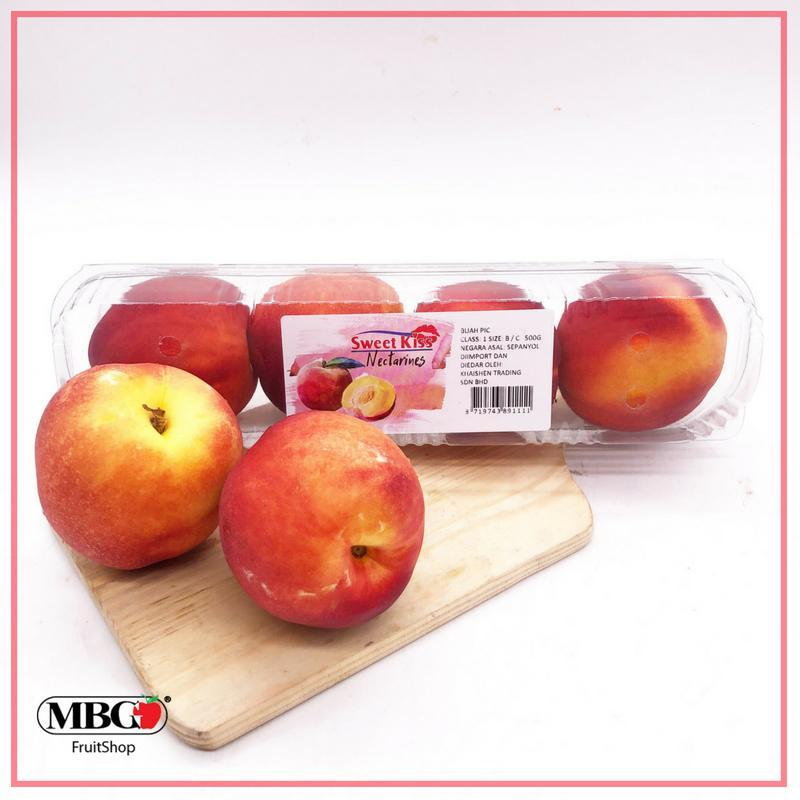 Spain Sweet Nectarine (L)(4Pcs/Pack)-Stone Fruits-MBG Fruit Shop