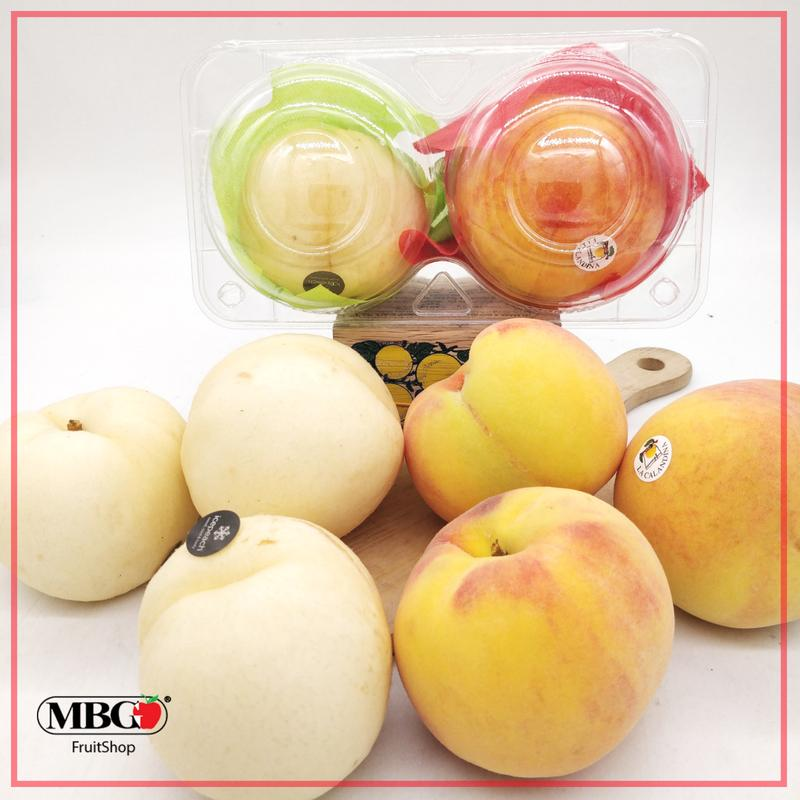 Spain White Peach and Yellow Peach Combo (2Pcs/Pack)-Stone Fruits-MBG Fruit Shop