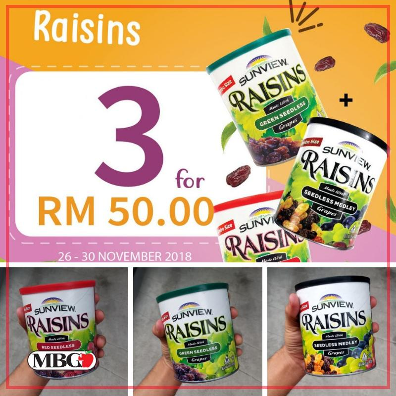Sunview Trio Raisin Combo-Dry Product-MBG Fruit Shop