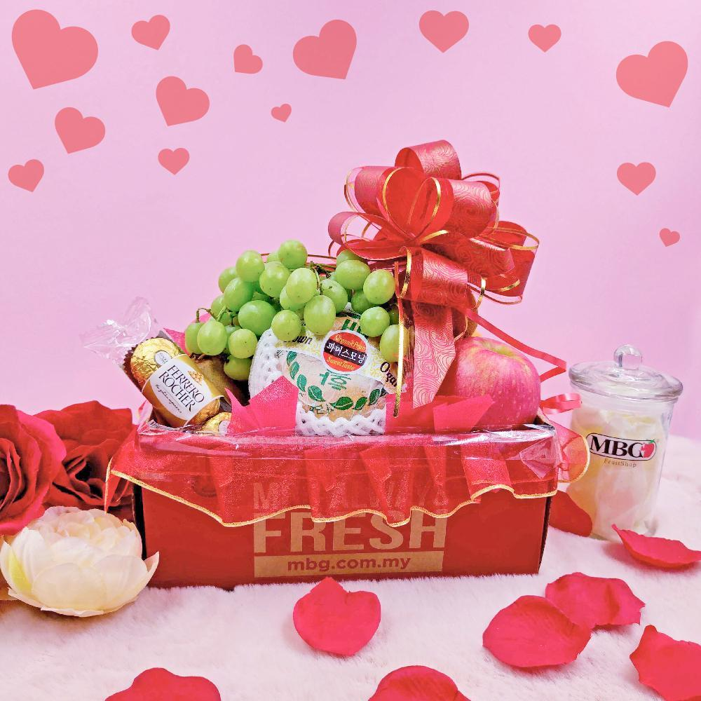 Sweetheart Mini Fruitbox (5 Types of Fruits)-Valentine-MBG Fruit Shop