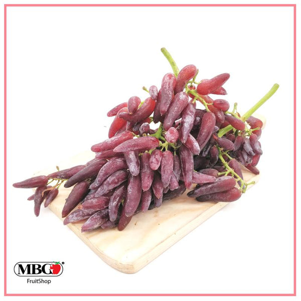 USA Funny Fingers Black Grape (1KG/Pack)-Grapes-MBG Fruit Shop