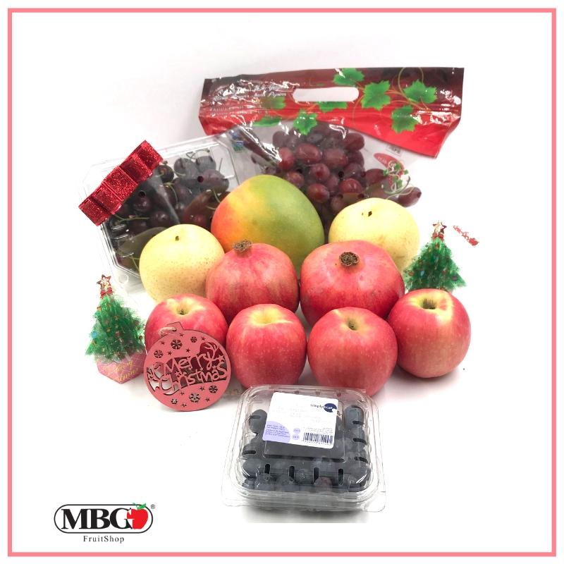 Xmas Glittering Fruit Box (7 Types of Fruits)-Xmas Special-MBG Fruit Shop