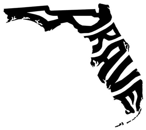 Brave Florida Decals 6 inch, 2 pack