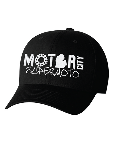 Motor City SuperMoto Embroidered Flex Fit Hat