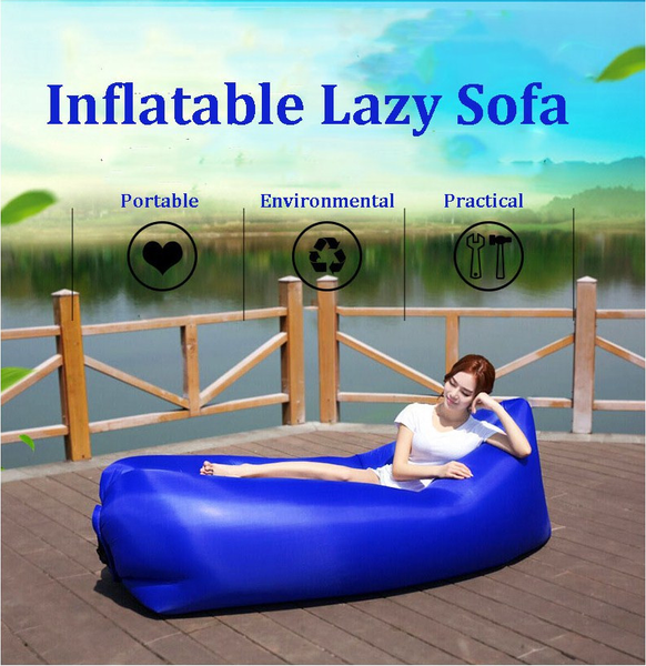 Fast Air Inflatable Sleeping Bed Lounger Camping Beach Lay Bag Low Price