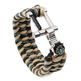 Paracord Survival Wristband Compass-Ridge Line Survival Gear