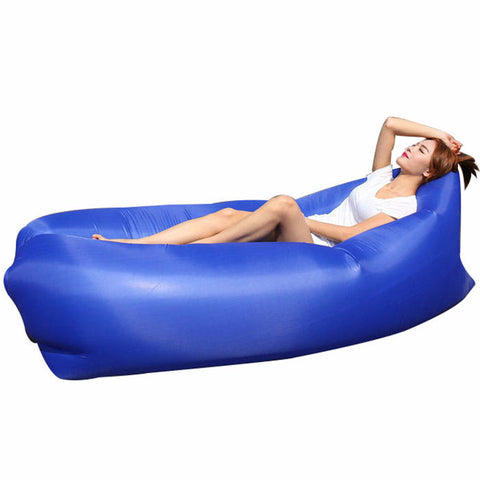 Fast Air Inflatable Sleeping Bed Lounger Camping Beach Lay Bag-Ridge Line Survival Gear