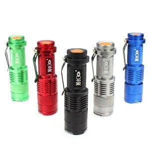 MECO Q5 Mini 500 Ln LED Zoomable Flashlight-Ridge Line Survival Gear