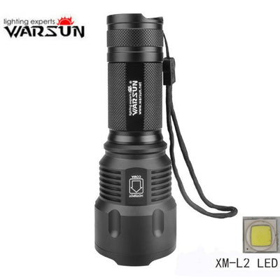 Warsun XM-L2 1200LM Zoomable LED Flashlight-Ridge Line Survival Gear