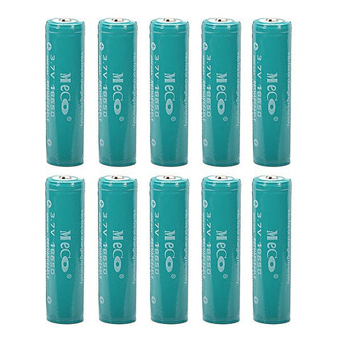 10pc Meco 4000 ah 18650 Batteries-Ridge Line Survival Gear