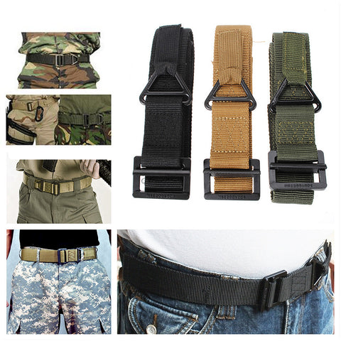 Survival Tactical Waist Belt Strap Military Emergency Rescue Protection Waistband For Hunting-Ridge Line Survival Gear