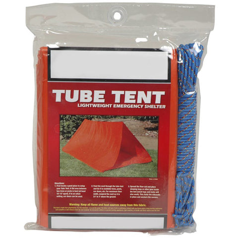 2-Person Tube Tent with Cord-Ridge Line Survival Gear
