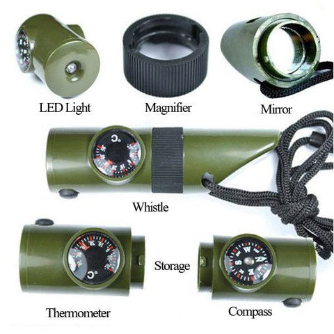 Tactical Compass Whistle-Ridge Line Survival Gear