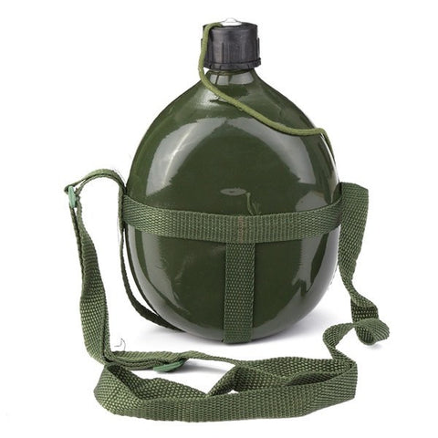 1.5L Military Canteen Aluminum Military Water Cup Bottle-Ridge Line Survival Gear