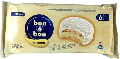 Alfajor Arcor Bon-O-Bon Blanco 6 U