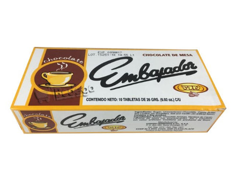 Chocolate Embajador 1 U