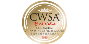 Gold at China Wine and Spirits Awards Best Value 2018