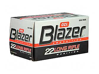 CCI Blazer High Velocity 22LR 40 Grain Lead Round Nose 1235 FPS 500 Rounds