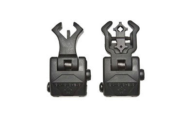 Diamondhead AR-15 Flip Up NiteBrite Sight Set Same Plane Polymer Black