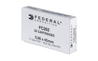 Federal Lake City 5.56 NATO 77 Grain OTM