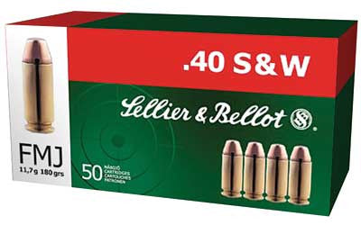 Sellier & Bellot .40 S&W Ammunition 50 Rounds, FMJ, 180 Grains