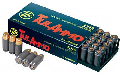 TulAmmo .40 S&W Ammunition 50 Rounds, FMJ, 180 Grains