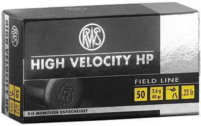RWS High Velocity .22 LR 40 Grain HP 50 Round Box