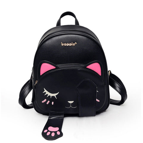 Cat Black Preppy Style Bag