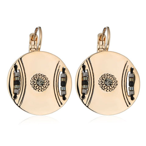 White Gold Plated Drop Earrings