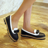 Round Toe Low Heel Shoes