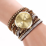 PU Leather Crystal Rivet Bracelet