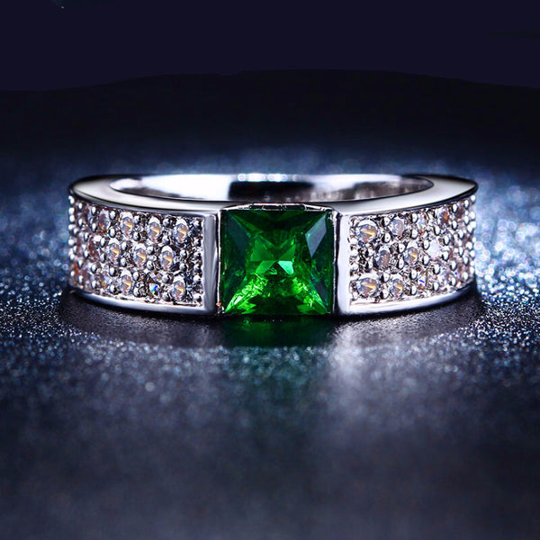 MDEAN Emerald Ring for Women