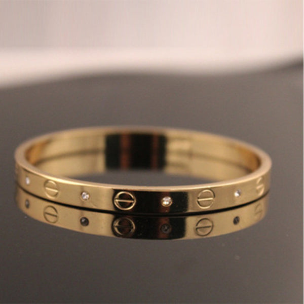 Trendy Rose Gold & Silver Bangle for Women