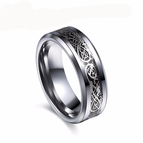 Vintage Dragon Tungsten Steel Ring