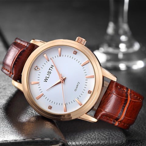 Leather Couple Wristwatches