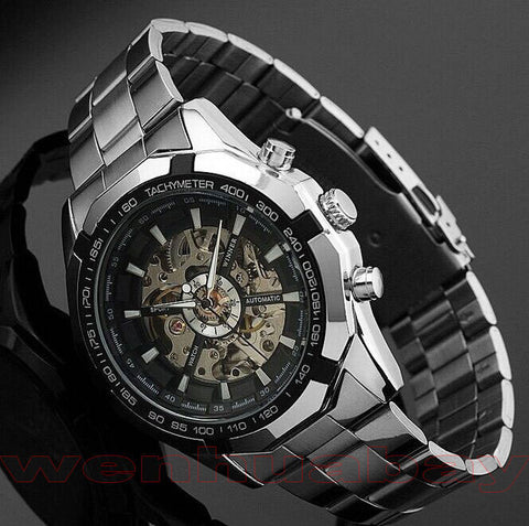 Luminous Automatic Stainless Steel Wrist Watch