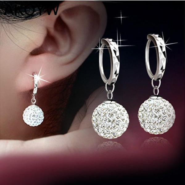 Silver Plated Circular Earrings