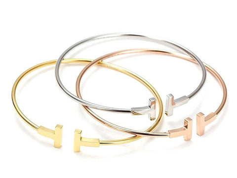 Stainless Steel Gold Plated Bangles