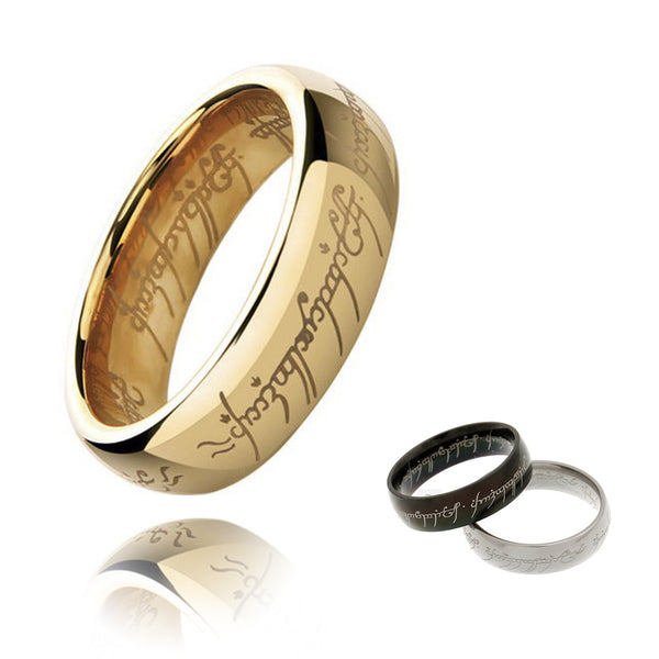 One Ring To Rule Them All Male Titanium Stainless Steel Ring