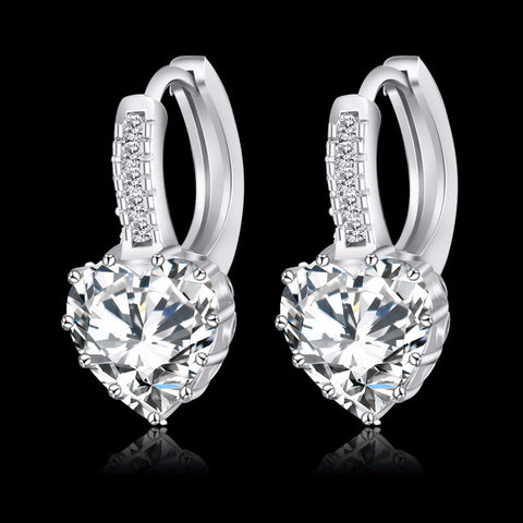 Platinum Plated Hoop Earrings