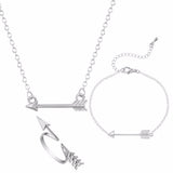One Direction Collier Gold Silver Arrow Jewelry Set