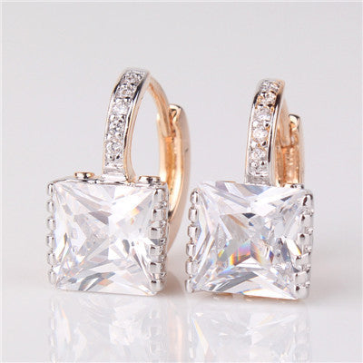 Princess Zirconia Earrings