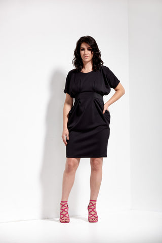 Black Neoprene Pencil Skirt