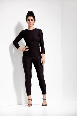 Black Nikita High Waist Conwave Knit Legging - 1 MORE COLOR