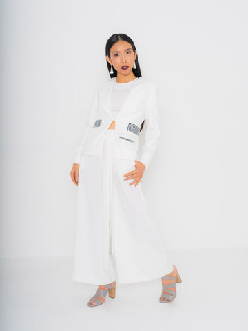 Bright Ivory Tie Waist Culottes - 1 more color